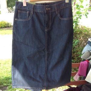 Brand new old navy denim skirt.